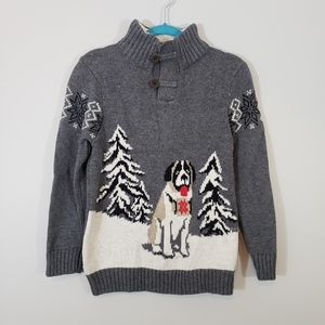 Gap Boy's Sweater with Faux Shearling Collar